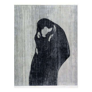 Endvard Munch The Kiss IV Postcard