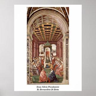 Enea Silvio Piccolomini By Bernardino Di Betto Posters