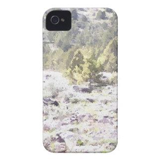 Enebros y roca de la lava en acuarela Case-Mate iPhone 4 carcasas