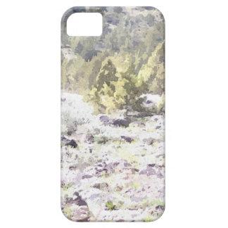 Enebros y roca de la lava en acuarela iPhone 5 Case-Mate cárcasa