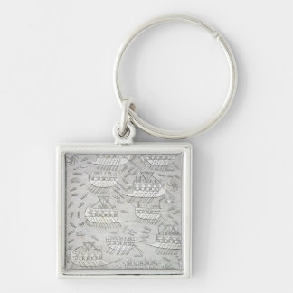 Enemies of the Assyrians taking refuge in ships, p Keychain