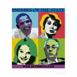 ENEMIES OF THE STATE POSTCARD