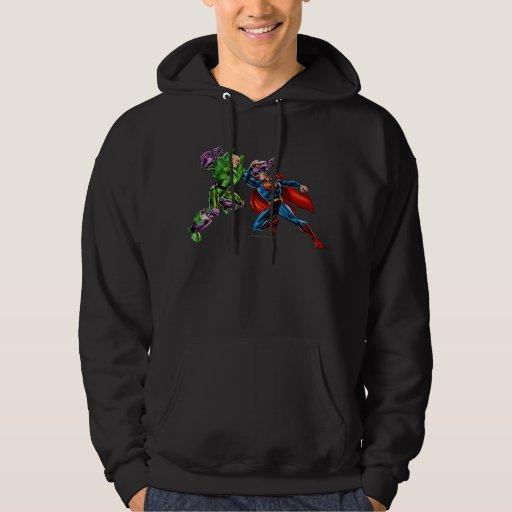 Enemigo 2 del superhombre suéter con capucha
