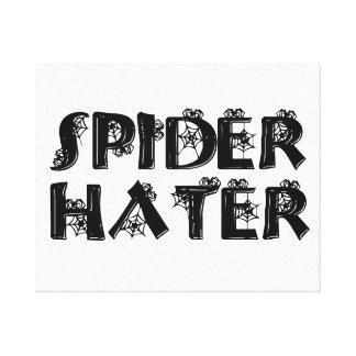 Enemigo de la araña impresión en lona estirada