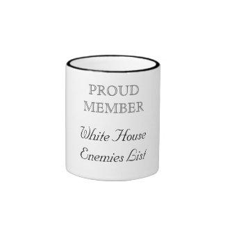 Enemigo de la Casa Blanca Taza De Dos Colores
