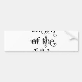 Enemigo de la novia etiqueta de parachoque