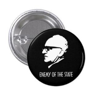Enemigo de Rothbard del estado Pin Redondo De 1 Pulgada