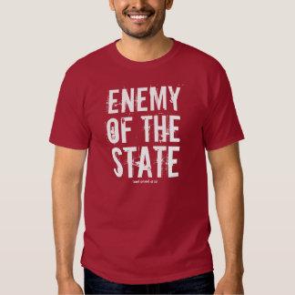 Enemigo del estado (y orgullosos de él) playera