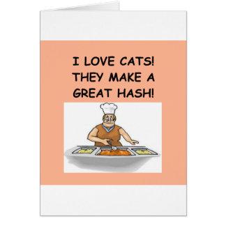 enemigo del gato tarjeta