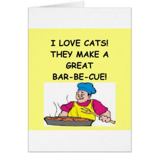 enemigo del gato tarjeta de felicitación