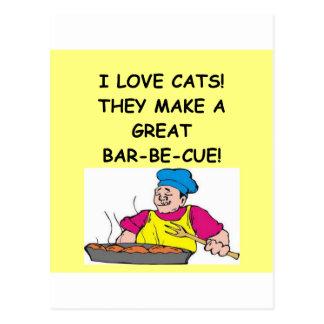enemigo del gato tarjetas postales