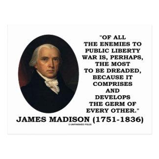Enemigos de James Madison a la cita pública de la Postal