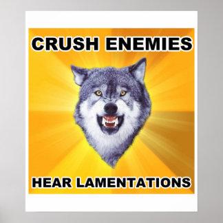 Enemigos del agolpamiento del lobo del valor póster
