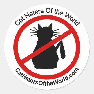 Enemigos del gato de los pegatinas del mundo pegatina redonda