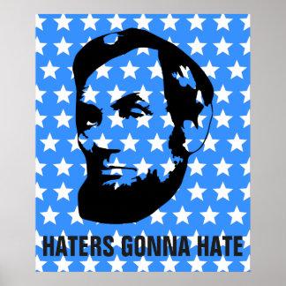 Enemigos que van a odiar Abe Lincoln patriótico Impresiones