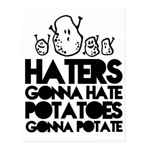 Enemigos que van a odiar, patatas que van al postales