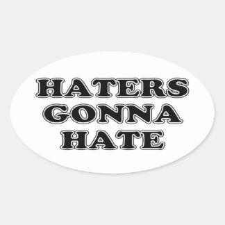 Enemigos que van a odiar pegatina oval personalizadas