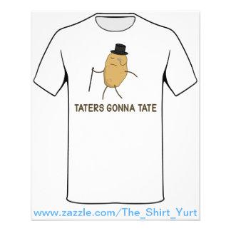 """Enemigos que van a odiar y Taters que va a Tate Folleto 4.5"""" X 5.6"""""""