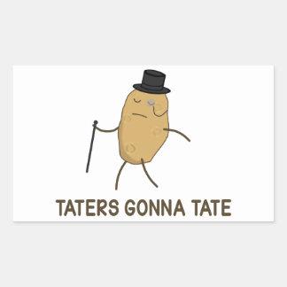 Enemigos que van a odiar y Taters que va a Tate Pegatina Rectangular