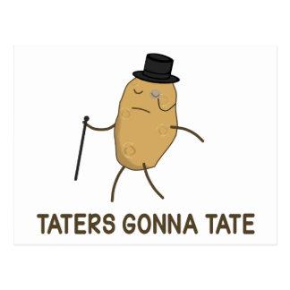 Enemigos que van a odiar y Taters que va a Tate Postales