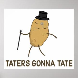Enemigos que van a odiar y Taters que va a Tate Póster