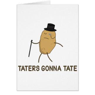 Enemigos que van a odiar y Taters que va a Tate Tarjeta De Felicitación