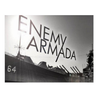 Enemy Armada Ship Logo Postcard