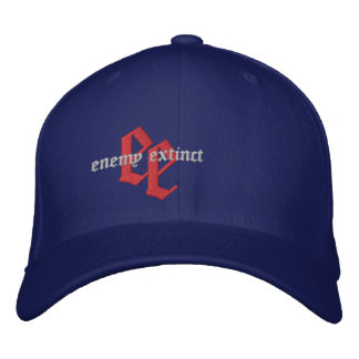 enemy extinct red white and blue emb hat