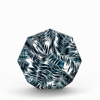 Energetic abstract palm leafs pattern award
