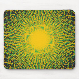Energetic Bends Blck Mouse Pads