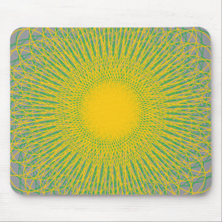 Energetic Bends Grey Mouse Pads