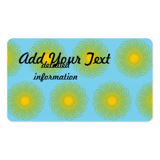 Energetic Bends pattern light blue Business Card