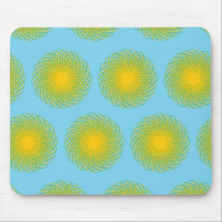 Energetic Bends pattern light blue Mouse Pad