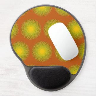 Energetic Bends Pattern orange Gel Mouse Pads
