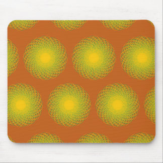 Energetic Bends Pattern orange Mouse Pads