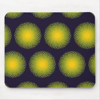 Energetic Bends Pattern Purple Mouse Pad