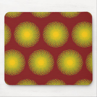 Energetic Bends Pattern Red Mouse Pads