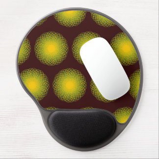Energetic Bends Patterns red Gel Mouse Mat