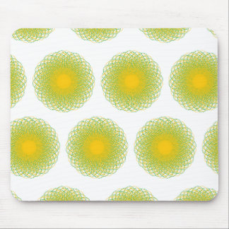 Energetic Bends Patterns white Mousepad