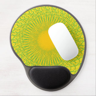 Energetic Bends Yellows Gel Mouse Pad