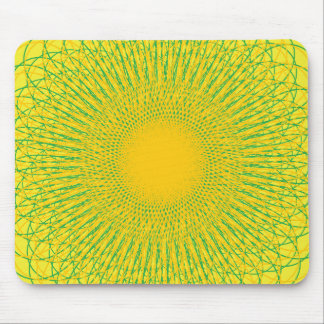 Energetic Bends Yellows Mouse Pad