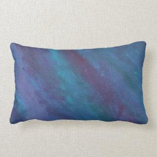 Energetic Decor | Dark Blue Purple Teal Turquoise Lumbar Pillow