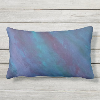 Energetic Decor | Dark Blue Purple Teal Turquoise Outdoor Pillow