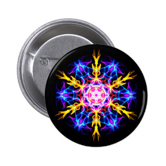 Energetic Geometry-   Merkaba Activation 2 Inch Round Button