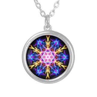Energetic Geometry-   Merkaba Activation Round Pendant Necklace