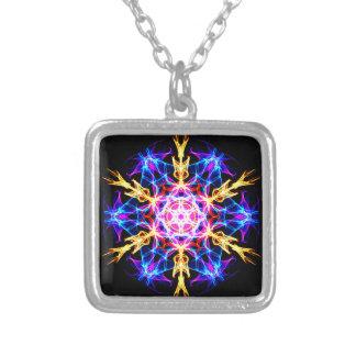 Energetic Geometry-   Merkaba Activation Square Pendant Necklace