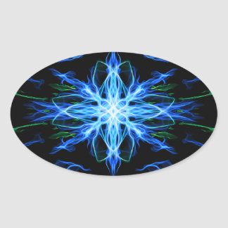 Energetic Geometry- Water Element - abstract Oval Sticker