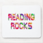 Energetic Reading Rocks Mouse Pad