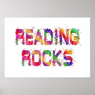 Energetic Reading Rocks Poster
