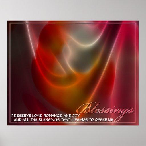 Energía abstracta de las bendiciones posters